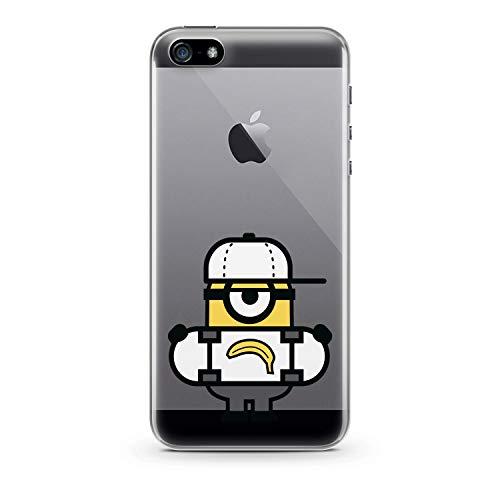 Finoo Handyhülle kompatibel für iPhone 5 / 5S / SE - Hülle mit Motiv und Optimalen Schutz TPU Silikon Tasche Case Cover Schutzhülle - Banana Skateboard