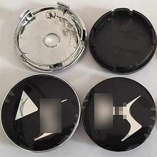 Liuyunding 4 Piezas Tapas Centrales para Llantas para Citroen DS, con Logo Rueda Centro Tapacubos Tapas Accesorios De DecoracióN De Coches, 60mm