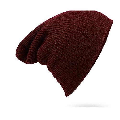 Hxxby Hombres y Mujeres a Rayas con Capucha de otoo e Invierno Sombrero de Lana Caliente al Aire Libre Sombrero de Punto (Color : Si)