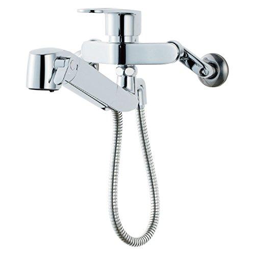LIXIL(リクシル) INAX キッチン用 壁付浄水器内蔵シングルレバー混合水栓 ハンドシャワー付 エコハンドル RJF-865Y