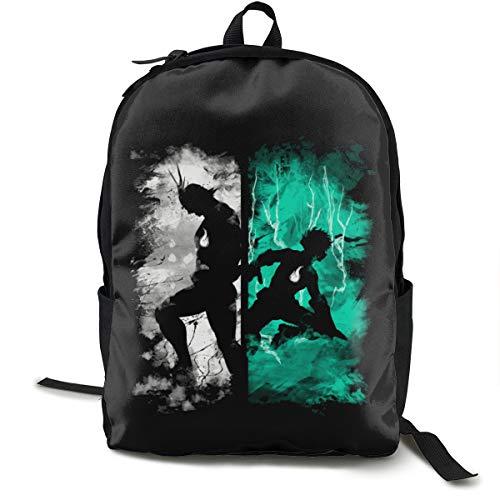 N / A My Hero Academia Classic Backpack Schoolbag Black Bag Polyester Unisex School Work Travel