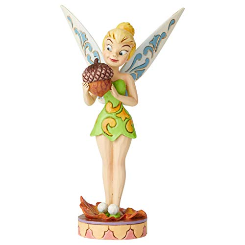 Enesco Disney Traditions by Jim Shore Peter Pan Tinkerbell with Acorn Figur, Mehrfarbig, 6.75 Inch