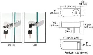 CRL Chrome No-Drill Showcase Lock - Keyed Alike - 255CHKA by CRL
