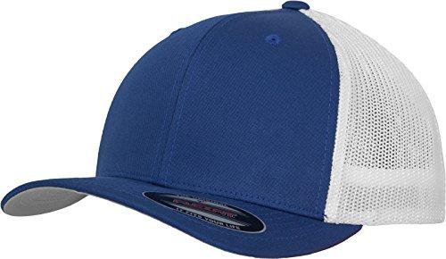 Flexfit Mesh Trucker Cap 2-Tone - Unisex Baseballcap für Damen und Herren, Farbe Royal/White, L/XL
