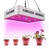 Calistouk 300W/600W/1000W/1200W LED Grow Light Full Spectrum para Plantas de Invernadero hidropónicas de Interior Veg and Bloom (1200W)