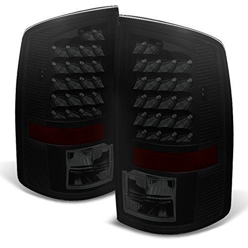 For Black Smoke 02-06 Dodge Ram 1500 03-06 Ram 2500 3500 Pickup Truck LED Tail Lights Pair Replacement
