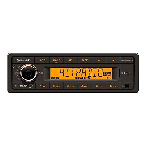 Continental TRD7412UB-OR - MP3-Autoradio mit DAB/Bluetooth/USB/AUX-IN