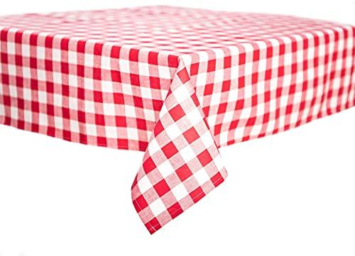 TextilDepot24 Landhaus Tischdecken 20 mm Karo rot-weiß kariert Bauernkaro 100% Baumwolle (80 x 80 cm)