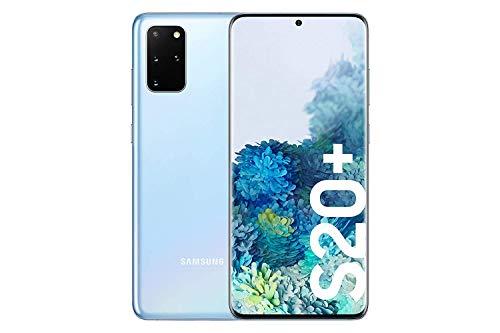 "Samsung Galaxy S20+ - Smartphone 6.7"" Dynamic AMOLED (8GB RAM, 128GB ROM , cuádruple cámara trasera 64MP, Octa-core Exynos 990, 4500mAh batería, carga ultra rápida), Cloud Blue"