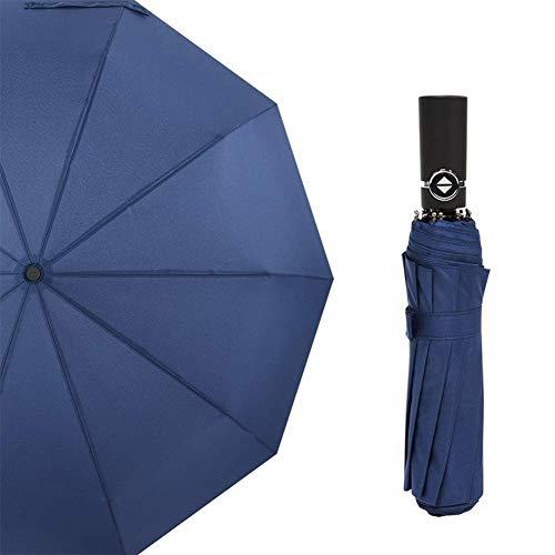 Verstärkungen erhöhen 10 Knochen Triptychon Männliche und weibliche Erhöhen Sie Anti-Splash-Regenschirme Einfarbig Business Faltbare Automatische Öffnung Licht Winddicht Regenschirm Undurchlässig