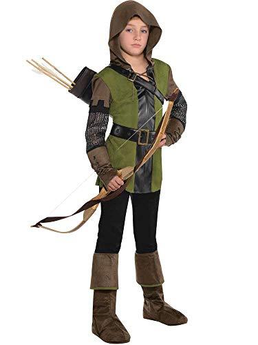 Bambino Ragazzo Adolescente Principe dei ladri Robin Hood Costume Libro Bambini (4-6 Anni)