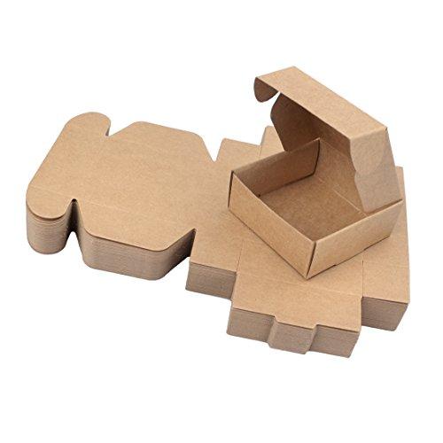 Freahap 50 Stü. Verpackung Karton Box für Handgemachte Seife Kleine Geschenke L