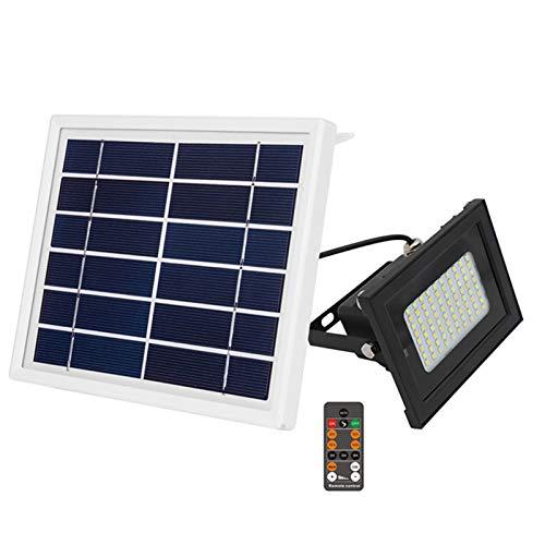 Tellgoy Reflector Solar, Lámpara De Jardín Brillante De Atenuación De Dos Colores De 80LED con Temporización Inteligente E Impermeable, Luz Solar para Césped Al Aire Libre
