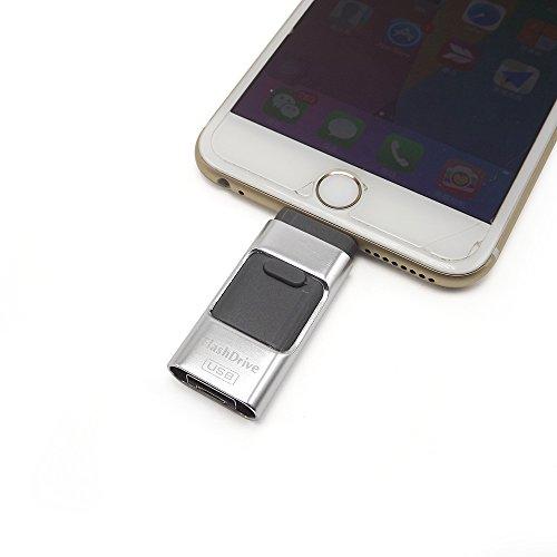 eMart Alta Capacità 32GB Chiavetta USB for iPhone iPad iOS i-Flash Scheda di Memoria per Computer, Serie Apple e Telefono Cellulare Android - Argento
