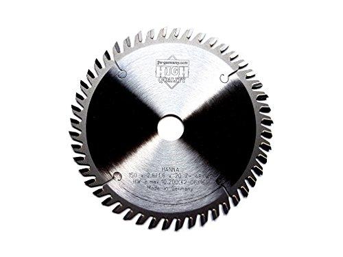 jjw de Alemania HM–Hoja de sierra circular Hanna 150x 20z = 48Wz para sierra circular de mano, 1pieza, 4250980602152