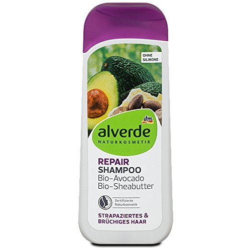 Alverde Shampoo Repair Avocado and Shea Butter, 200 ml (pack of 2) - German product