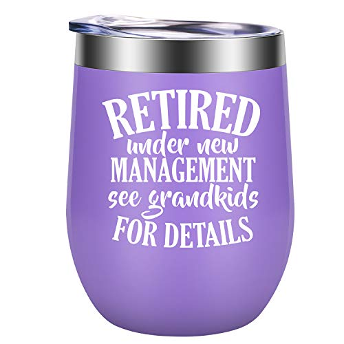 Retirement Gifts for Women 2020 - Funny Wine Gifts, Humorous Retired Gifts, Happy Retirement Gifts for Women Coworker, Retiring Teacher, Nurse, Grandma, Friend, Boss - GSPY Retirement Mug Wine Tumbler