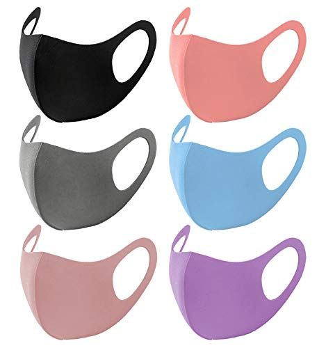 Unisex Solid Colors Fashion Washable & Reusable Cloth Face Masks, Breathable Comfort Face Covering...