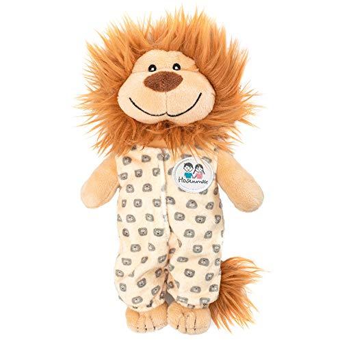 """Hosenmax \""""Verspielter Löwe Kuscheltier - 20 cm - Plüschtier Löwen, Plüschlöwe, Puppe Mädchen und Jungen, Baby und Kinder - Abnehmbarer Schlafsack"""