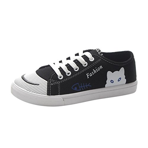 Covermason Zapatos Zapatos de lona mujer, lona de mujer Zapatos cómodos de suela