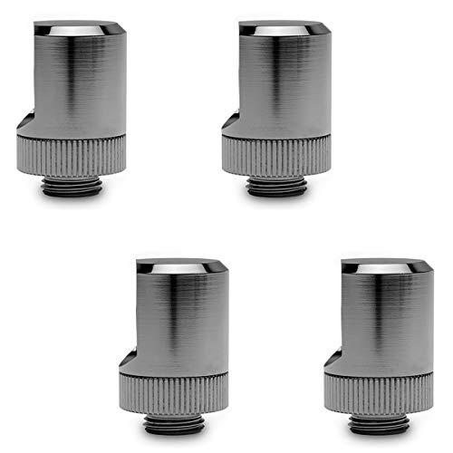EKWB EK-Torque 90 Degree Angled Rotary Fitting, Black Nickel, 4-Pack