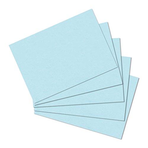 Herlitz 10837177 Karteikarte A6 blanko, 100 Stück, blau