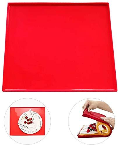 BETOY Silikon Backmatte Premium, 3 Stück Nonstick Backen Backwaren Werkzeuge Silikon Backblech Küchenwerkzeuge Silikonform Schweizer Rollmatte Backwerkzeuge Zufällige Farbe