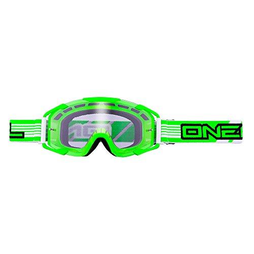 O'NEAL Oneal B2 Threesixzero MX-Brille, Farbe Grün, Größe One Size