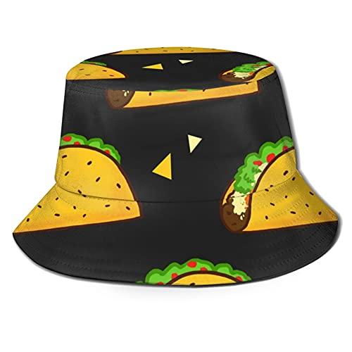 Sombrero Yummy Taco Patrón Burrito Negro México Quesadillas Verano Pescador Cap Beach Sun...