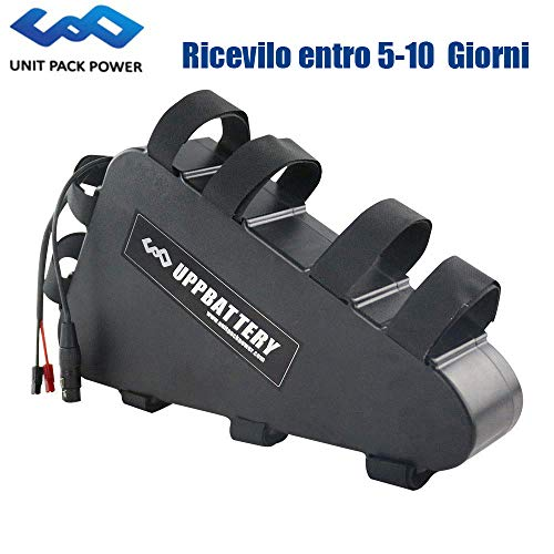 uppcycle Batteria al Litio Triangolare E-Bike 52V 20AH + Custodia Batteria...