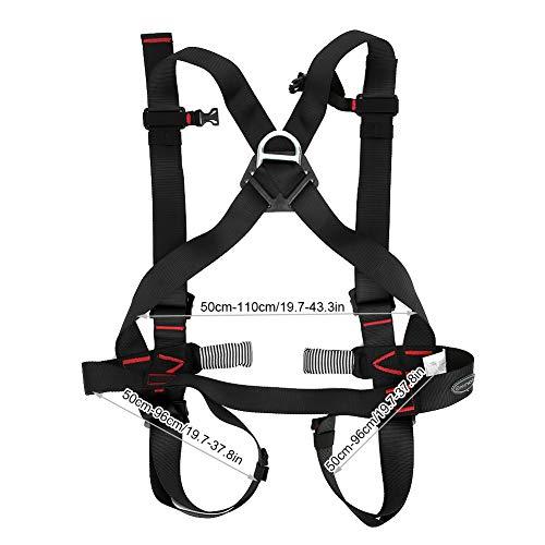 Arnés de escalada, cintura, protección de la cadera, cinturón de seguridad, cinturón de seguridad de medio cuerpo, protección completa anticaídas para deportes al aire libre, escalada deportiva, resca