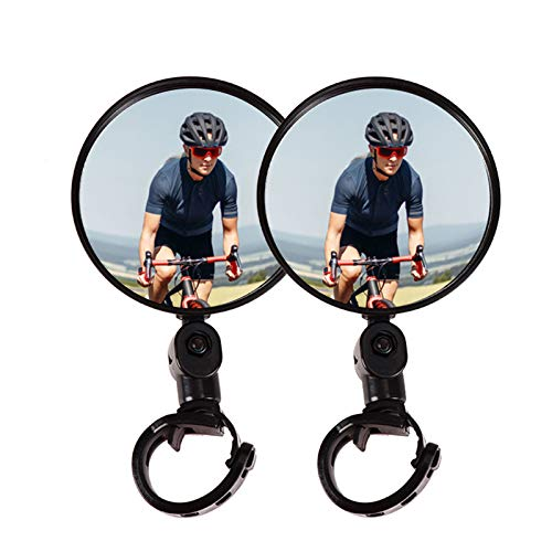 Vitog Bike Mirror 2Pack Bicycle Mirrors for Handlebars Adjustable HD Glass Convex Rear Bike Mirrors for Mountain Road Bike