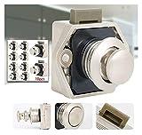 YUYAOYAO 1 0PCS Botón de pulsador Universal Captura de Bloqueo...