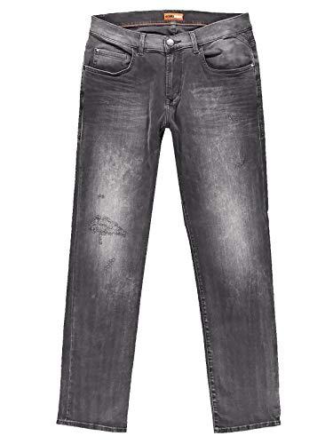 emilio adani Herren Verwaschene Stretch-Jeans, 30591, Grau in Größe 31/32
