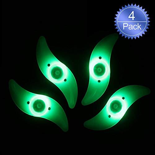 Oumers la luz del Rayo de la Bici, Rayo de la decoración Impermeable de la Rueda de la Bicicleta luz del Borde del neumático habló la luz con 3 Modos de Destello del LED lámparas de neón usadas