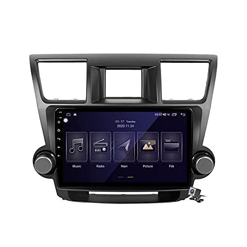 CIVDW Radio estéreo de coche doble DIN Android 10 para Toyota Highlander 2007-2013 Auto Video Audio Soporte DSP Bluetooth WiFi FM AM Radios Navegación GPS Espejo Link Carplay Android Auto
