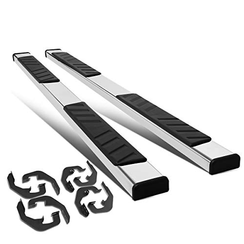 "Pair 5"" Stainless Steel Side Step Nerf Bar Running Boards Replacement for Chevy Silverado/GMC Sierra Crew Cab 07-18"