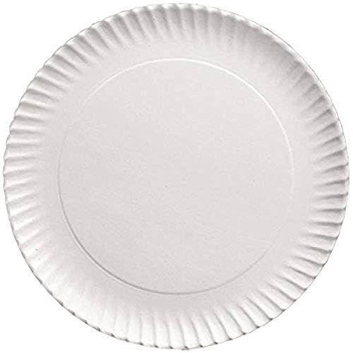IBILI 728923 Plat Rond, Aluminium, Blanc, 23 cm