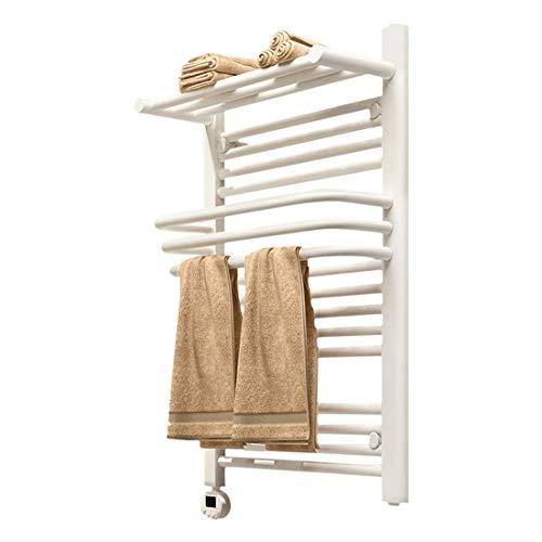 Lvbeis Toallero Calefactor Electrico Baño Radiador con Termostato Digital Programable Secatoallas Electrico,White,65...