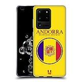 Head Case Designs Bandera De Andorra Remiendos de La Bandera Carcasa de Gel de Silicona Compatible con Samsung Galaxy S20 Ultra 5G