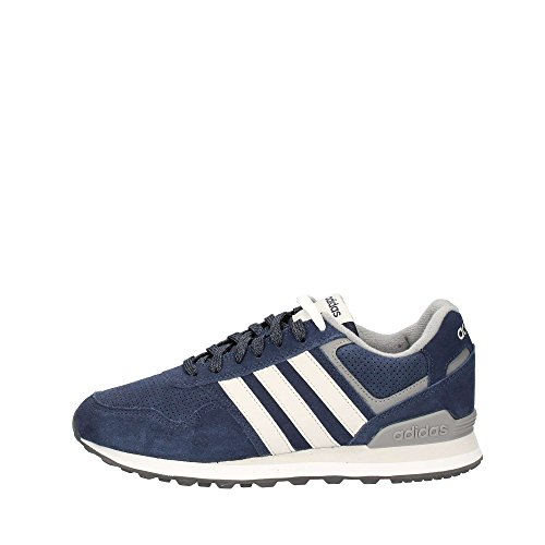 adidas 10K, Zapatillas de Gimnasia Hombre, Azul (Collegiate Navy/Grey One F17/Grey Three F17), 44 EU