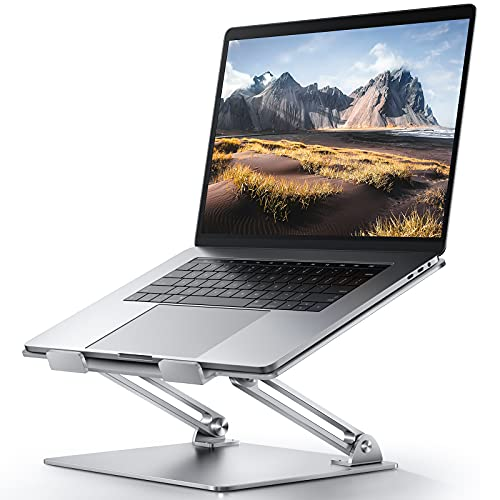 Adjustable Laptop Stand For Desk, Ergonomic Portable Computer Stand Aluminum Laptop Holder with Heat-Vent to Elevate Laptop, MacBook, Air, Pro, Dell XPS, Samsung, 11-17' All Laptop Stand Holder