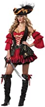 Sexy Spanish Pirate Costume X-Large Red