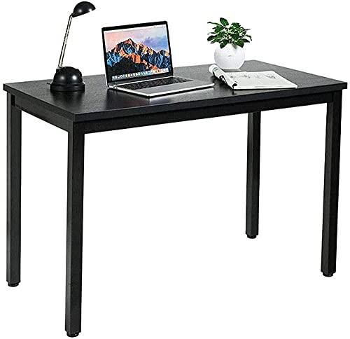 Escritorio de pie de 40 pulgadas para ordenador portátil, mesa moderna para casa, oficina, escritorio, fácil de montar, color negro