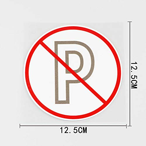 JKGHK Pegatinas para coche, 2 unidades, diseño de Gb, impermeables, con texto 'No Parking Is Allowed Here'