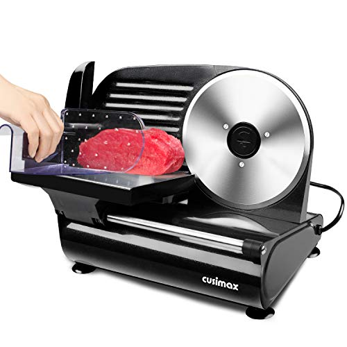 Meat Slicer, CUSIMAX 200W Electric Deli Food Slicer with 7.5