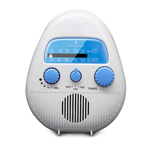 Duschradio, kabellos, tragbar, elektronisch, IPX4, wasserdicht, Mini-FM/AM-Radio-Lautsprecher mit USB- und TF-Kartenanschluss, batteriebetrieben, für Badezimmer, Strand, Pool, Fahrrad, Zuhause