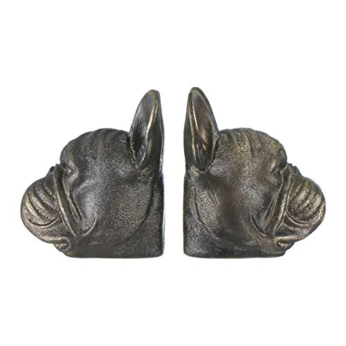 Creative Co-Op Resin Antique Bronze Dog, Set of 2 Bookends