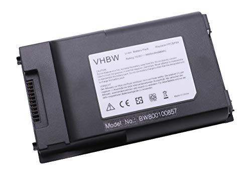 vhbw Batterie LI-ION 4400mAh 10.8V Bleu foncé Compatible pour FUJITSU-Siemens remplace FPCBP64 / FPCBP64AP / FPCBP64Z