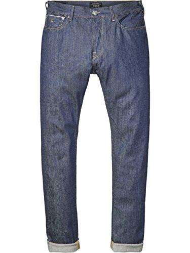Scotch & Soda Herren Jeans Dean - Loose Tapered Fit - Blau - Raw Italian Selvedge, Größe:W 31 L 34, Farbe:Raw Italian Selvedge (1A)